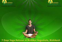 Yoga Retreat India / Yoga and Ayurveda retreat in Rishikesh at Rishikul Yogshala.