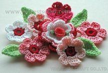 crochet blommor och rutor
