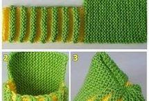 Sapatinho de trico