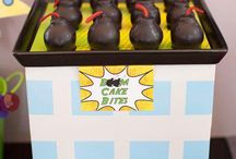 """Superhero Birthday Party """"1"""" and """"3"""" / Superhero themed birthday party ideas for 1 and 3 year old"""