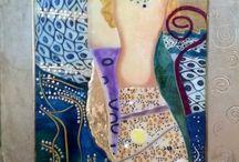 Stained glass art reproduction!!! / Vetrate artistiche d'autore  in vetrofusione, dipinte a grisaglia e smalti.