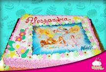 Torte bimbi panna e pan di Spagna / Torte di compleanno per bimbi e bimbe in panna e pan di Spagna :P
