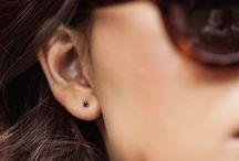 Modern Fine Earrings / Earrings made from fine gemstones and diamonds with modern design.