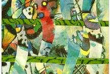 creatief met kunst - made by me / collages op ansichtkaartformaat met afbeeldingen uit kunstboeken