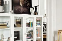 Living room book shelf