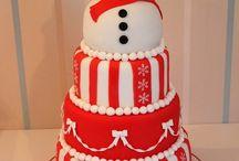 Christmas cakes / All types of Christmas cakes.. / by Sandra Kinnear