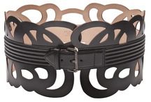 Laser cut leather belts