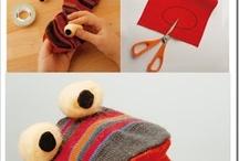 Pupazzi di pezza fatti con calzini