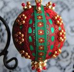 Victorian Christmas Ornaments / Handcrafted Victorian Christmas Ornaments