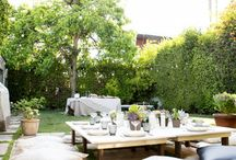 Summer backyard entertaining