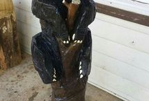 Creative Woodwork / Various wood carving created by Kenneth Gregory, Owner of Arbor Eden Creations in NC.