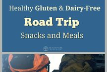 Healthy Camping, Road Trip and Travel Meals / Gluten and Dairy-Free snack and meal ideas for camping, road trips and travel abroad.