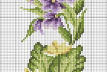 Çiçekli Kanaviçe