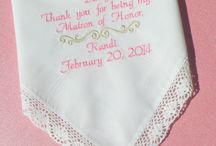 Matron of Honor / Embroidered Wedding Handkerchiefs by Canyon Embroidery Embroidered Wedding Handkerchiefs, Make your wedding extra special by getting your handkerchiefs personalized! They make wonderful gifts for the Mother, Father of the Bride & Groom. And wedding party. ❤ #wedding #embroideredweddinggift #gift
