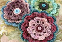 Crocheted roses  + Hearts ++