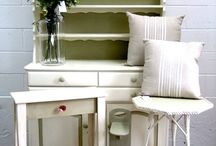 Country Style / Commissioned Hutch Dresser and Tables. A beautiful country style revival, with all the pieces taking on a completely different persona using Chalk Paint™ by Annie Sloan
