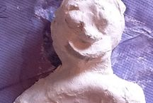 6.11.14 Little Bloxwich School / A series of Modrock sculpture portraits created by the students of Little Bloxwich school.