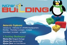 Now Building: Antarctic Explorers  / From January 25th-February 27th, our Boulder Headquarters will be transformed into an Antarctic landscape as we host open workshops for all to come and build for free! For the Antarctic Explorers, we have created 4 missions that will take you on an unforgettable journey through the playful and thrilling features created by the Antarctic landscape. From climbing glaciers to scouting for meteors, you'll be building with ATOMS to tackle the missions with the help of an endless supply of LEGO.