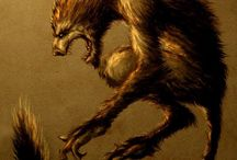 """Lupi mannari licantopri / A werewolf (Old English: werwulf, """"man-wolf"""") or occasionally lycanthrope /ˈlaɪkənˌθroʊp/ (Greek: λυκάνθρωπος lukánthrōpos, """"wolf-person"""") is a mythological or folkloric human with the ability to shapeshift into a wolf (or, especially in modern film, a therianthropic hybrid wolflike creature), either purposely or after being placed under a curse or affliction (often a bite or scratch from another werewolf). Early sources for belief in this ability or affliction, called lycanthropy /laɪˈkænθrəpi/, are Petronius (27–66) and Gervase of Tilbury (1150–1228)."""