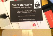 Share Our Style / Introducing our new #BusinessCards #ShareOurStyle Rent authentic designer bags or earn money by sharing yours. #LoveDesignerBags? #LetsShare!
