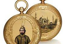 Osmanlı sultanları portreli saat