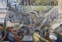 Diego Rivera / 1886-1957 The prominent Mexican painter whose large frescoes helped establish the Mexican mural movement in Mexican art. Ο διακεκριμένος μεξικανός ζωγράφος, που καθιέρωσε το Κίνημα Επιτοίχιας Ζωγραφικής μεγάλης κλίμακας στη μεξικάνικη τέχνη.