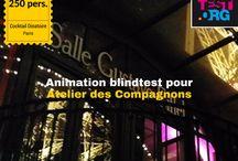Références Animations #blindtest pour événements d'entreprise / Quelques références de nos animations #blindtest pour événements d'entreprise: congrès, séminaires, conventions.. Les meilleurs blind tests entreprise de la planète, c'est nous ;-) Contact: contact@blindtest.org