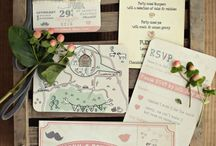 pretty paper / Wedding stationery inspiration board including gorgeous invites, save the dates, name places, menus and more...