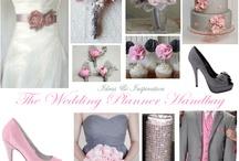 Pink & gray wedding