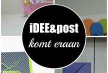 iDEE&post 2015 / Elke drie maanden selecteert het DeeTee van Bij Oma Dee de leukste materialen om kaarten, doosjes en andere papierprojectjes mee te maken. Ter inspiratie ontvang je elke maand nieuwsbrief per mail, inclusief kleurenfoto's.