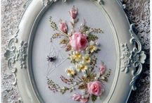 embroidered frame