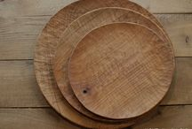 wooden plate