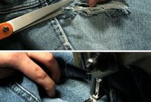 Fix holes in jeans
