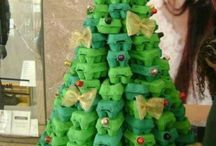 Christmas Trees from Recycled Materials