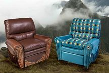 Recliners / The softest recliner you will sit in feather and unbounded Dacron adjustable to how firm or soft you prefer