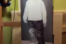 Step Jeansboy / Stet by Step from an acrylpainting.