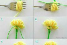 kwiaty robione