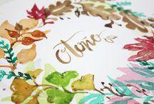 Ilustración Botánica Almu Ruiz / Ilustraciones botánicas de Almu Ruiz pintadas con acuarelas. - Botanical illustrations of Almu Ruiz painted with watercolors.