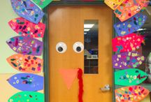 bulletin board/class door