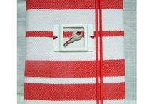 DIDYMOS RED STRIPES STANDART / Handmade style Notebooks