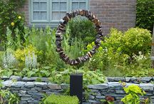 Recycled garden sculptures