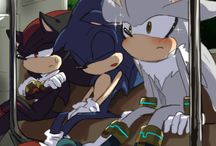 sonic silver shadow cute :3