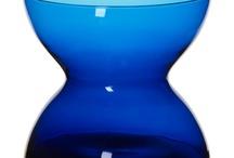 Vase / Blomstervaser, glass, stål