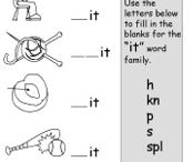 Word Families  / Learn through play- fun ways to practice CVC word families