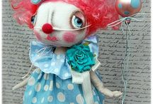 priomitive rag dolls and toys