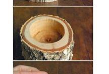 κερί σε ξύλο