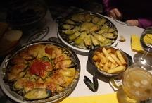 Comida de restaurantes en mis viajes.