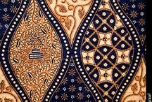 Traditional Indonesian fabric pattern