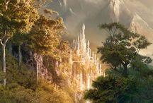 Fantasy Landscapes / Landscapes of fantasy places, RPG, sci-fi, etc.