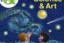 Science classroom / Science ideas for the classroom using art whenever possible!